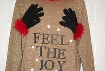 Ugly Christmas sweater ideas / by Heather Simpson