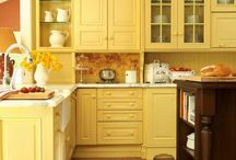 Pam's yellow kitchen / by Anna Claire