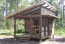 cabin/ chicken coop / by Peggy Schultz