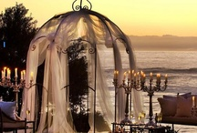 Eric and Alyssa's Wedding Plans / *Destination of wedding and reception: Private spot on Indiana Beach (Beach in decent distance for family travel)  *Color scheme: Soft pink, white, mason jar blue accents, specks of black, and splashes of light gold  *Flowers: White Anemones and soft pink roses  *Dessert: Pear french crepes, meringues, macaroons, and vanilla bean wedding cake   *Reception: Dancing, outdoor movie with popcorn bar, Giant Jenga, fireworks, lighting lanterns, tug of war, ring toss, sack races, and more       / by Alyssa Wrona