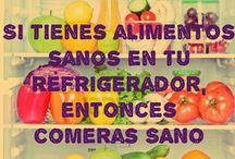 alimentos y recetas / by Graciela Burgos