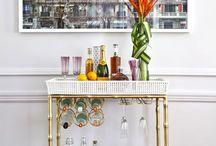 home bars & bar carts / by Kim Conley