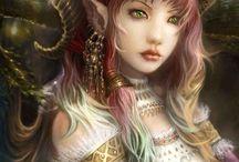 Fairies,elves, sprites, Mermaids, portraits / by Carol Stephens
