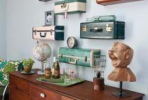 vintage suitcases/trunks / by Deb Bahr