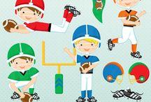 Football cliparts, tailgate parties, DIY crafts & printables / by Mygrafico Digitals