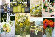jars and flowers / by Linda Bradberry
