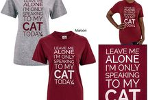 Cat Themed Clothing / Every Purchase Funds Food and Care for Rescued Animals. / by GreaterGood