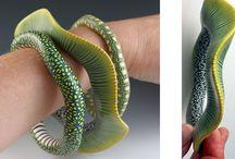 Polymer Clay / An amazing array of polymer clay jewelry also know as art.  / by Christina Kosinski