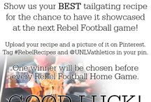 Rebel Recipes / Show us your BEST tailgating recipe for the chance to win tickets and have it showcased at the next Rebel Football game!  Upload your recipe and a picture of it on Pinterest. Tag #RebelRecipes and @UNLVathletics in your pin.  One winner will be chosen before every Rebel Football Home Game. / by UNLV Athletics