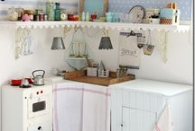 Play Kitchens/Lego tables/dress-up closets / by Amber Scott