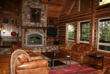 Our log home and cabin in the Woods / even though we live in a log home i still wouldn't mind having a cottage or cabin somewhere else too / by sarah