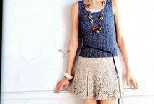 Crochet skirt.  / Faldas / by Martha Salazar