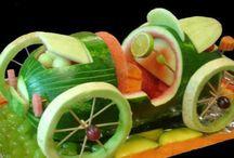 Food carving garnishes / by Kristine Campau