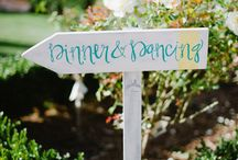 Wedding signs and calligraphy / by English Wedding Blog