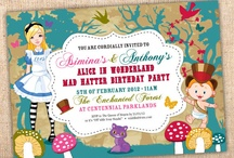 Alice in Wonderland / by Ian & Lola Invitations and Printables