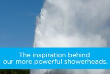 The Power of OptiFLOW / Waterpik® shower heads are engineered with OptiFLOW® to deliver the powerful shower you want. Even at low water pressures, OptiFLOW® can improve water force up to 30% by more efficiently channeling water. / by Waterpik Showers