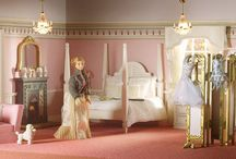 Dolls' House Room Displays; Bedrooms / by Dolls House Emporium