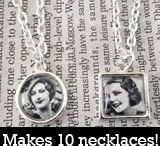 Photo Necklaces / Styles of photo necklaces at Photojewelrymaking.com / by Photo Jewelry