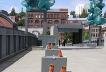 Lost Kangaroos! / MOG's mascot Green Guy was chaperoning ten Australian kangaroos as they were visiting the new exhibition Links: Australian Glass and the Pacific Northwest. Afterwards, he took them to see the Chihuly Bridge of Glass--He turned his back and they were gone!  If you find a kangaroo in Tacoma, tweet @museumofglass #foundkangaroo with your name and an original photo of the kangaroo and you'll be entered into a prize drawing! For more information visit http://museumofglass.org/kangaroo   / by Museum of Glass