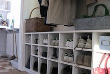 Mud room / by Mandy at Living Peacefully with Children