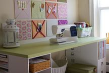 Home: Craft or scrapbooking room / Ideas for decorating, organizing and using a scrapbooking room, hobby room or craft room. / by Joanne White