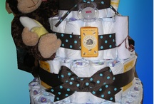 Baby Diaper Cakes / baby shower gifts for the new mom handmade by me @ xpress diaper cakes / by Becky Jarrie