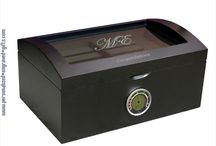 Personalized Humidor for Cigar Aficionados / Personalized Humidors engraved with your best wishes, congratulations, or logos are engraved on these beautiful humidors creating a unique and useful gift. / by Personalized Engraved Gifts