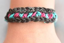 Rainbow Loom / I'm joining the rest of the world with the Rainbow Loom obsession. Here's some ideas I'd like to try! / by Katie D