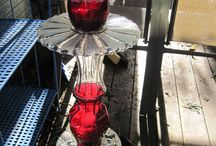 Glass yard sculptures / Yard pretties / by Bobbie Akin
