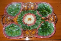 """* A COLLECTION ~ Majolica * / """"a 19th century earthenware modeled in naturalistic shapes and glazed in lively colors"""" / by Karyn G"""