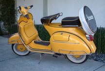 SCOOTERific / Scooters! Vespa, sidecars, mopeds, scooters / by Toni Holder