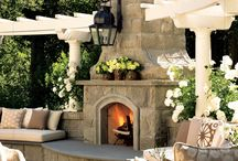 Outdoor Fireplace Project Ideas / by Kim Douglas Patterson