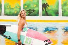 Surfer Chicks / Surf Girls / by ☠ ᏟɦЯĭֆ ☠