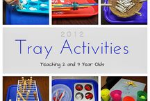 Tray Activities / by Sheryl @ Teaching 2 and 3 Year Olds