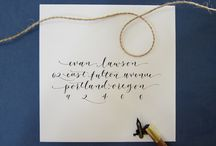 Calligraphy / by Amanda Thorson