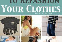 refashion & sewing / by Crystal Peña