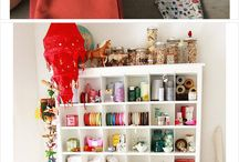 Sewing spaces / Where do you sew?  Looking for inspiration for your dream sewing space - you've come to the right place.  From small and cozy to vast and airy, and everything in between. / by Deby at So Sew Easy