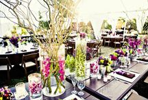 wedding center pieces / by Esther Wise Mills