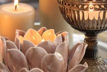 Candles/candle holders and center piece ideas. / by Lyn Wong