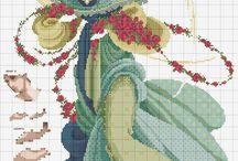 Haft krzyzykowy (Anioly/religijne) / Cross stitching (religious) / by Anna Kopczynska