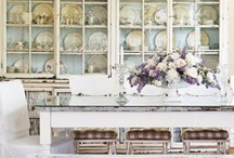 Shabby and Rustic and Romatic Decor / I love peeling paint, stone and rusty metal. Chandeliers and Silver. / by Tracy Martinez