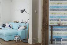 Tendências de Decoração - Azul e Madeira / Decoração de interiores com madeira e azul / by MaisPaletes .com
