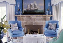 blue prairie/mission style parlor / by Kathy Kottmeier