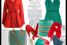 teal and red. my favorite combo / by Leana Loh_Ginger Straps
