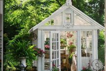 Greenhouses, Garden Houses, Tree Houses, Guest Houses & Sheds / Whatever you want to call them--they are grown-up playhouses and they are just dreamy! / by Lisa Moreland