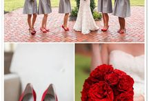 Red and Gray wedding / A collection of pins in a contemporary red and gray color story but with a bit of Classic, Southern Charm / by Cathrina Dionisio