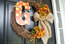 Wreaths for doors / by Janis Ussery