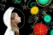 Space Moon Stars World Rockets Aliens / Far Out Spock / by Linda McRea
