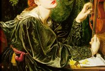 A Pre-Raffaelista vízió, J.W. Waterhouse, E. Burne-Jones, Rossetti  (  Miss Siddal  ) / festmények, grafikák / by Ágnes Pittner