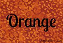 Color Inspiration | Orange / by Shabby Fabrics
